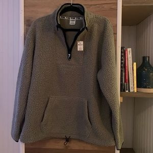 Pink Sherpa Pullover NWT size large